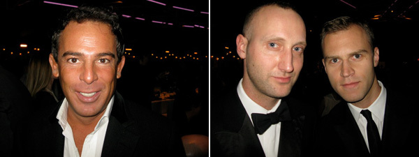 Left: Collector Eugenio López. Right: PIN-UP editor Felix Burritcher and Black Frame's Brian Phillips.