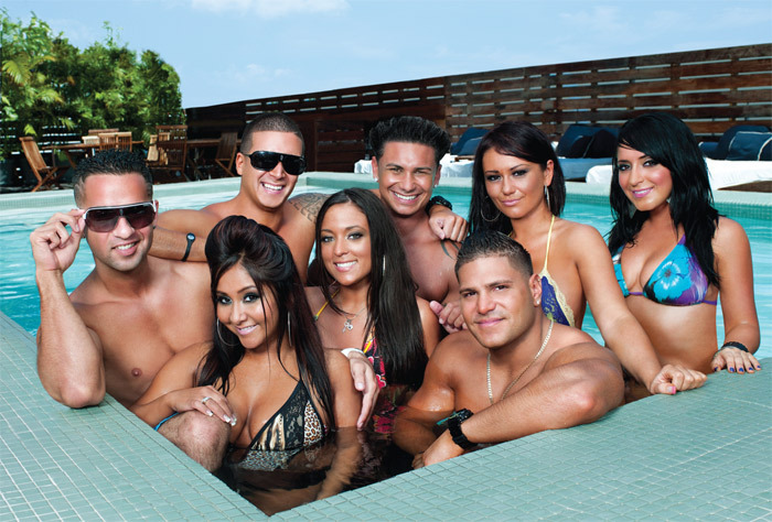 Cast of MTV's Jersey Shore.