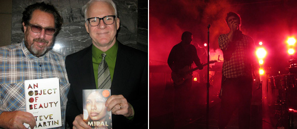 Left: Artist Julian Schnabel with Steve Martin. (Except where noted, all photos: Linda Yablonsky) Right: LCD Soundsystem. (Photo: Andy Guzzonatto)
