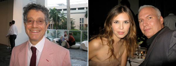 Left: LA MoCA director Jeffrey Deitch. Right: Dasha Zhukova and MoMA PS1 director Klaus Biesenbach.