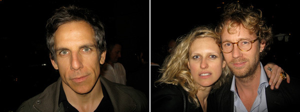Left: Ben Stiller. Right: Pace Gallery's Vita Zaman with dealer Martin Klosterfelde.