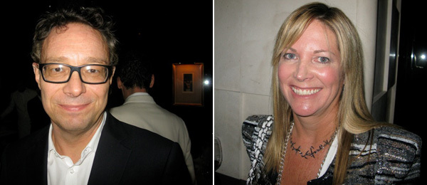 Left: Artist Marco Brambilla. Right: LA MoCA board cochair Maria Bell.