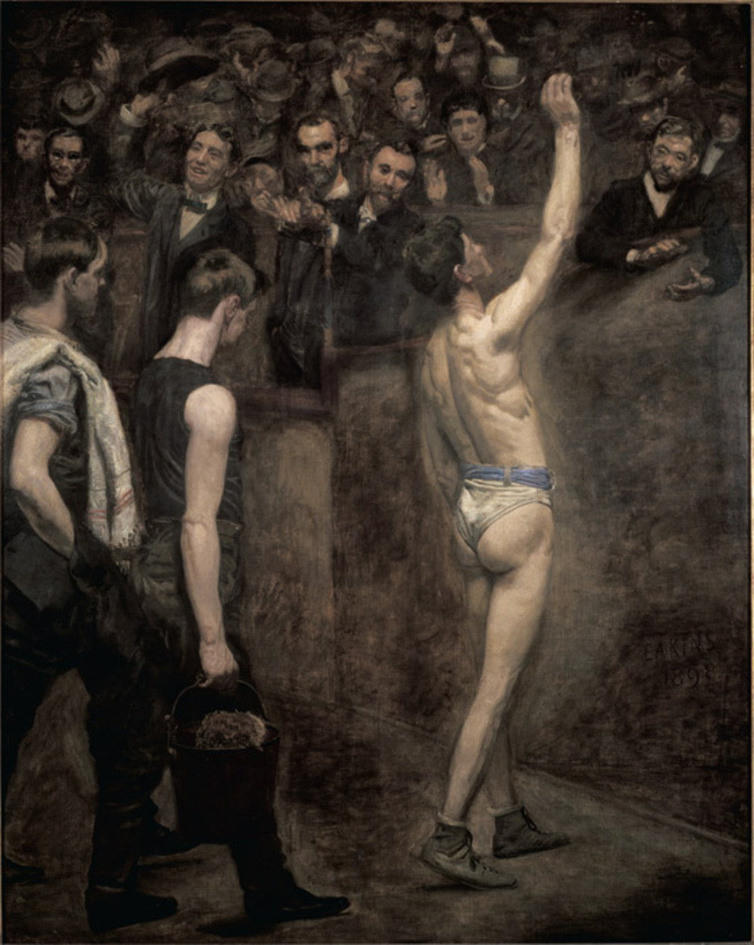"Thomas Eakins, Salutat, 1898, 50 x 40"", oil on canvas."
