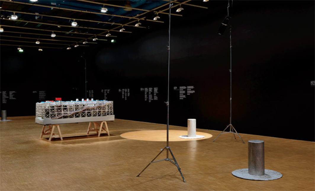 View of Saâdane Afif: Anthologie de l'humour noir (Anthology of Black Humor), 2010, Centre Pompidou, Paris. Photo: Florian Kleinefenn.