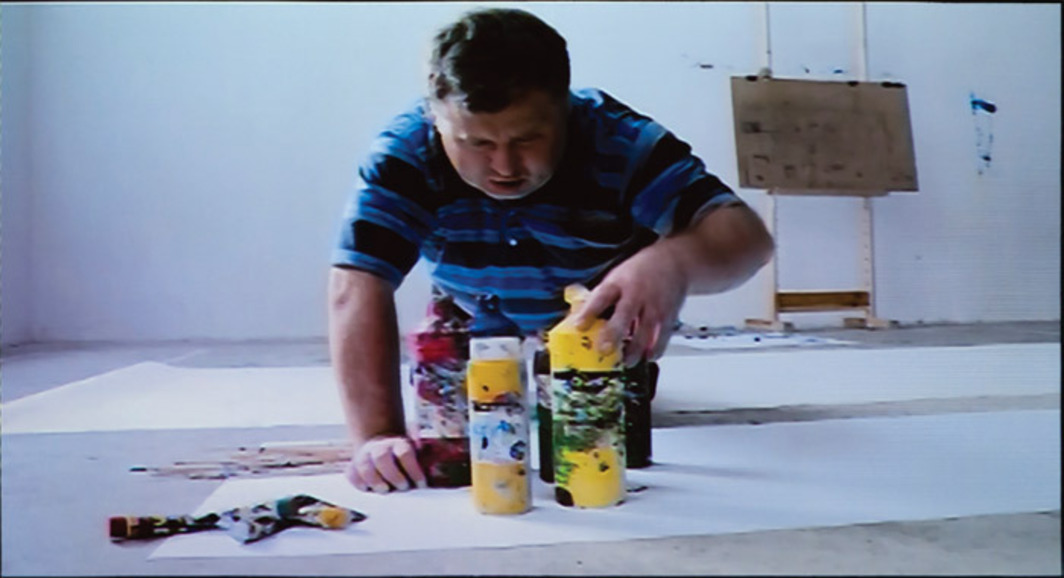 Artur Żmijewski, Blindly, 2010, still from a single-channel video, 18 minutes.