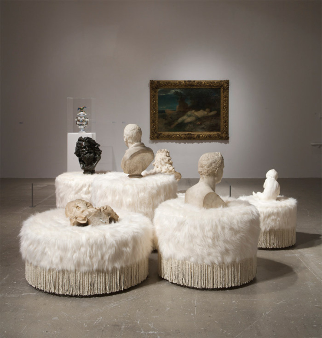 "View of Virgil Marti's ""Set Pieces,"" 2010."