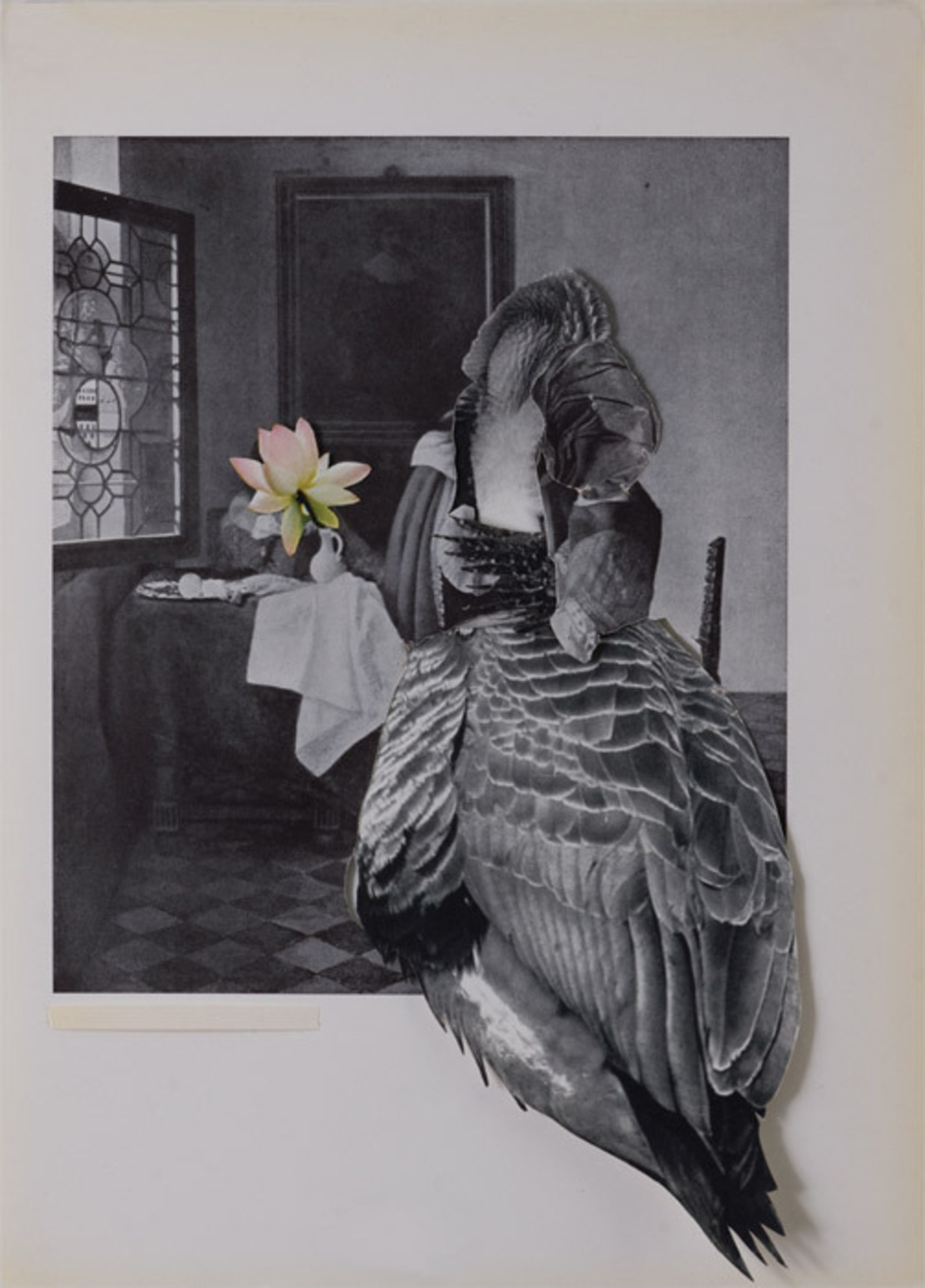 "Rosana Schoijett, Untitled, 2010, collage, 10 5/8 x 7 5/8""."