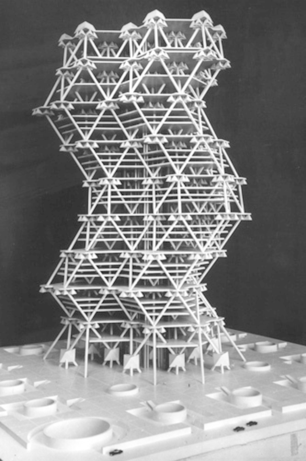 Louis I. Kahn and Anne G. Tyng, associated Architects, City Tower, Philadelphia, PA,1956–57, model. Courtesy of the Louis I. Kahn Collection, University of Pennsylvania and the Pennsylvania Historical and Museum Commission.