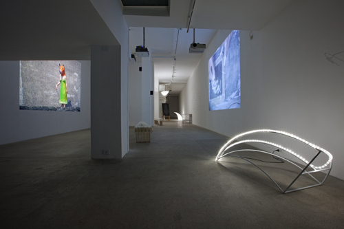 "View of ""Reading Dante IV,"" 2010."