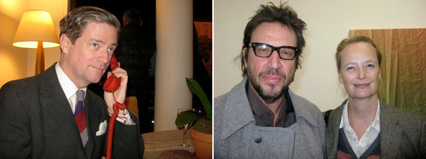 Left: Artist Peter McGough. Right: Artists Richard Hell and Charline von Heyl. (All photos: Linda Yablonsky)