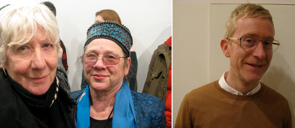 Left: Artists Mary Heilmann and Tina Girouard. Right: Artist Martin Boyce.