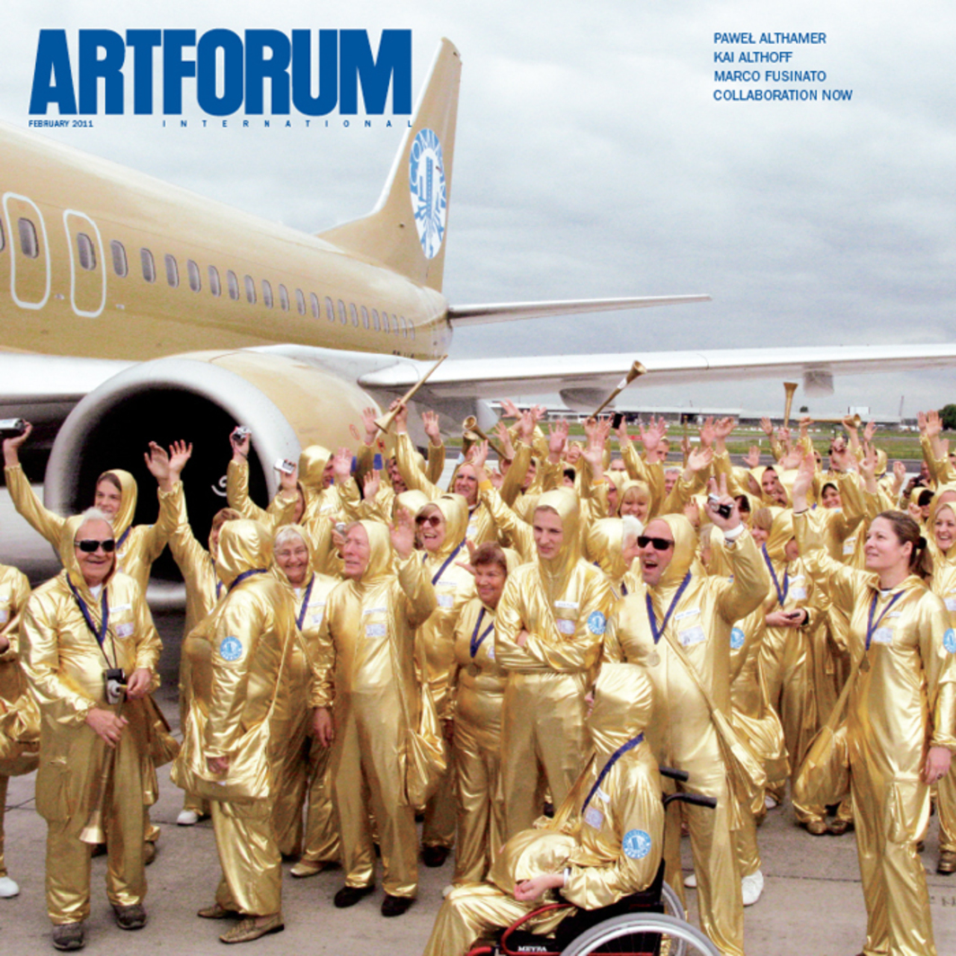 Cover: Participants in Paweł Althamer's Common Task, 2008–10 at the Zaventem Airport, Brussels, June 4, 2009.
