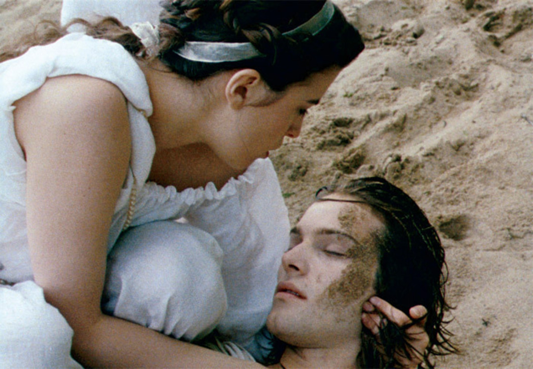 Eric Rohmer, Les Amours d'Astrée et de Céladon (The Romance of Astrea and Celadon), 2007, still from a color film in 35 mm, 109 minutes. Léonide (Cécile Cassel) and Céladon (Andy Gillet).
