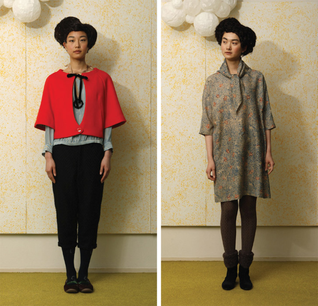 *Two looks by Minä Perhonen (Akira Minagawa) for the 2010–11 autumn/winter collection.*