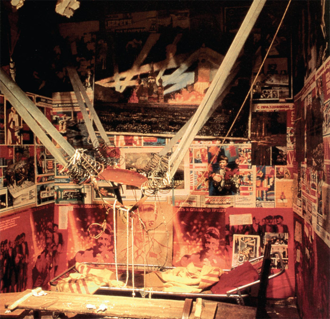 Ilya Kabakov, The Man Who Flew into Space from His Apartment, 1981–88. Installation view, Ronald Feldman Fine Arts, New York, 1988.