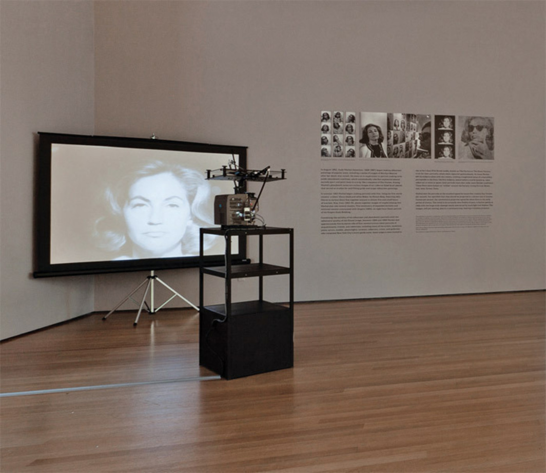"View of ""Andy Warhol: Motion Pictures,"" 2010. Ethel Scull, 1964. Photo: Jason Mandella."