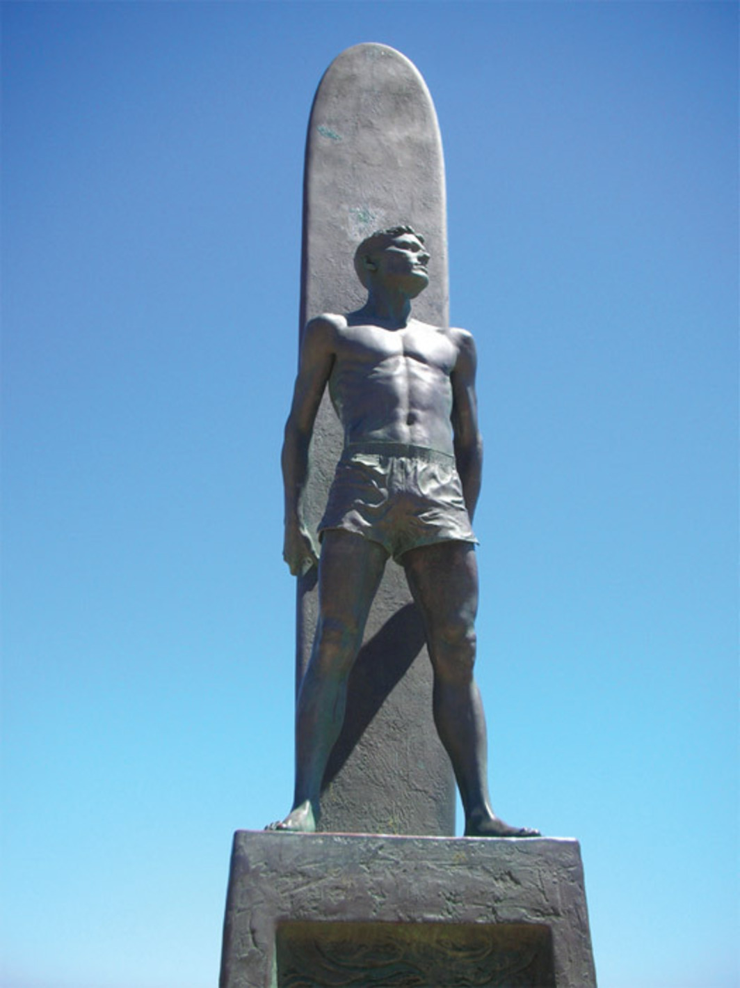 *Tom Marsh, _Monument to All Surfers, Past, Present, and Future_,* bronze. Santa Cruz, CA. Dedicated May 23, 1992.