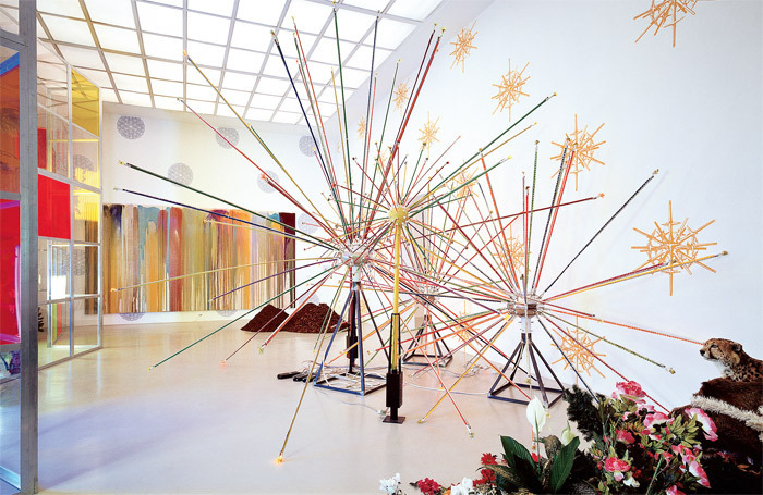 "View of John Armleder, ""Too Much Is Not Enough, 2006, Kunstverein Hannover, Germany. Photo: Raimund Zakowski."