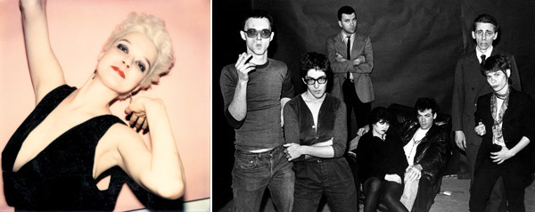 Left: Maripol, Patti Astor. Right: Marcia Resnick, Underground 'B' stars of the No Wave – Filmmakers Scott B. and Beth B., artist Diego Cortez, Lydia Lunch, Johnny O'Kane, Bill Rice and Adele Bertei of the Contortions. New York City, 1980. Both images from Céline Danhier, Blank City, 2010.