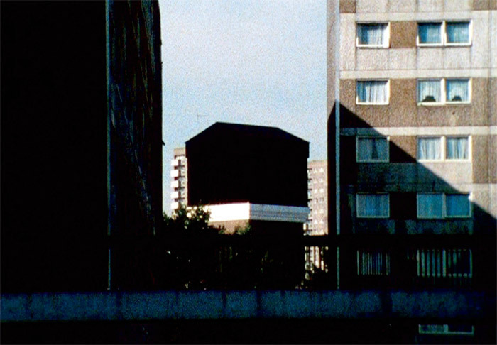 John Smith, The Black Tower, 1985–87, still from a color film in 16 mm, 24 minutes.