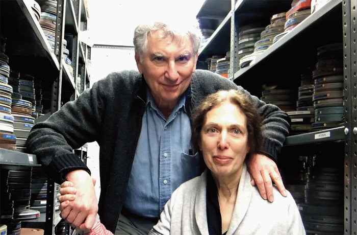 Ken and Flo Jacobs at the Film-Makers' Cooperative, New York, 2011.