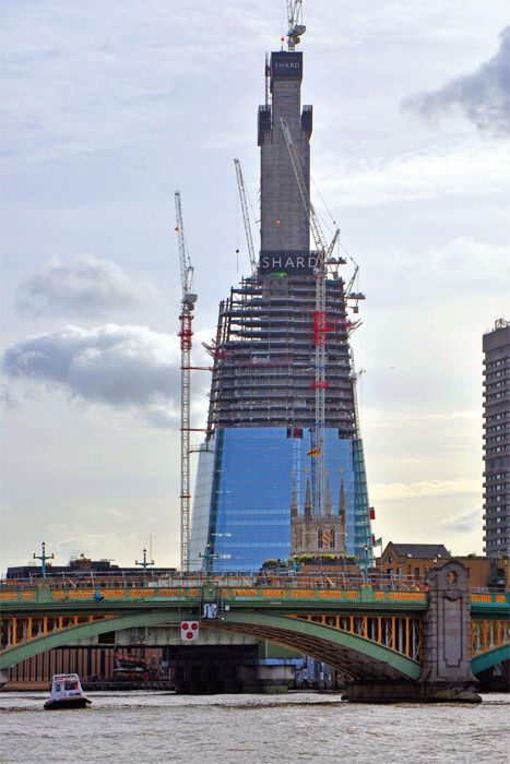 *Renzo Piano Building Workshop, The Shard, 2000–, London.* Construction view. Photo: George Rex, November 3, 2010.