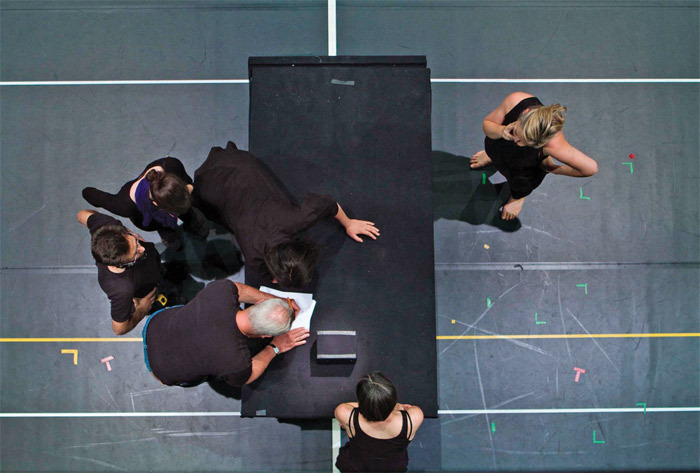 Rehearsal for The Life and Death of Marina Abramovic, Teatro Real, Madrid, September 15, 2010. Photo: Antony Crook.