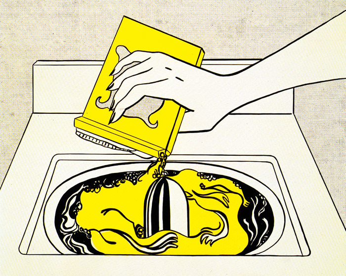 Roy Lichtenstein, Washing Machine, 1961, oil on canvas, 56 x 68. All works © Estate of Roy Lichtenstein.