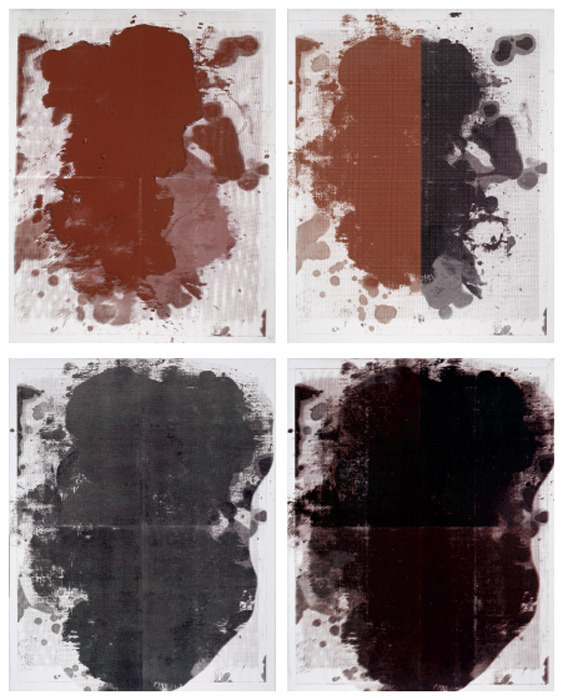 All works: Christopher Wool, Untitled, 2011, silk-screen ink on linen, 10 x 8'.