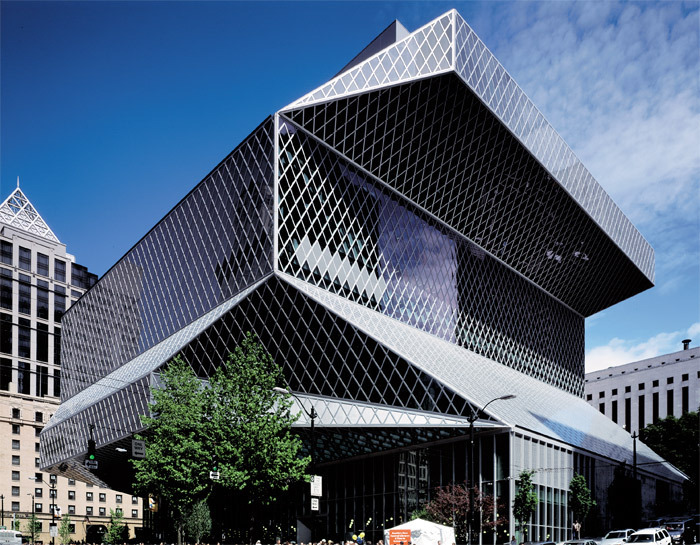 Office for Metropolitan Architecture, Seattle Central Library, 1999–2004, Seattle. Photo: Philippe Ruault/OMA.