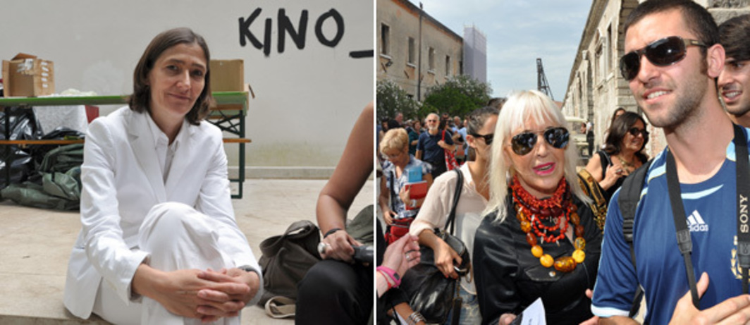 Left: Susanne Gaensheimer, curator of the German pavilion. Right: Artist Marta Minujín. (Photos: Andy Guzzonatto)