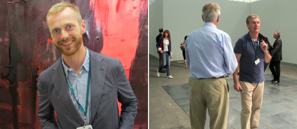 Left: Dealer Eivind Furnesvik. Right: Dealer David Zwirner.