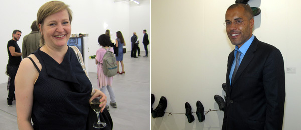 Left: Artist Angela Bulloch. Right: Dealer Kamel Mennour.