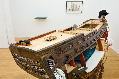 "View of ""Furling the Spanker: Masterworks from the Chadwicks' Nautical Collection,"" 2011."