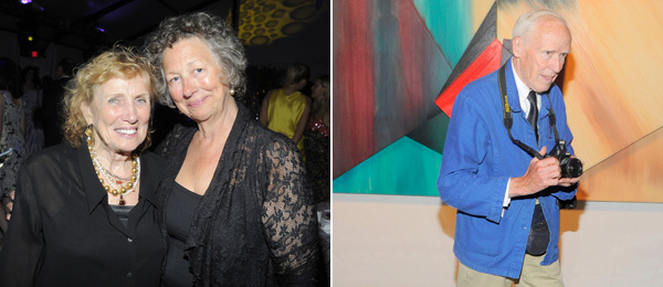 Left: Artist Dorothea Rockburne and Parrish Art Museum curator Alicia Longwell. Right: Photographer Bill Cunningham. (All photos: Patrick McMullan)