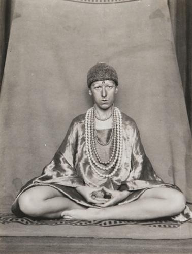 """Claude Cahun, Autoportrait, 1927, black-and-white photograph, 7 x 5""""."""