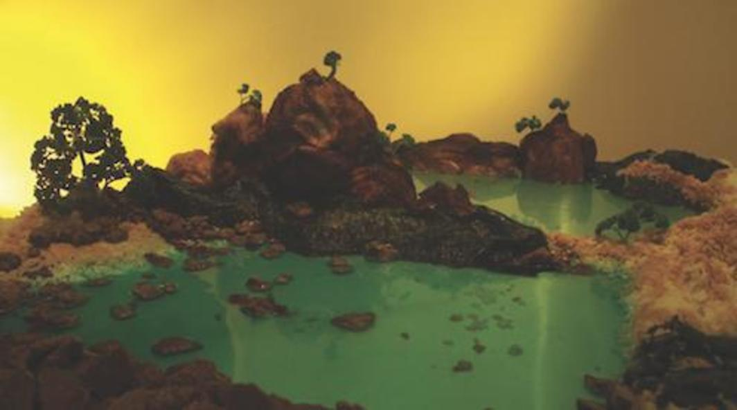 Song Dong, A Blot on the Landscape—Chop Stroke (Fu pi cun), 2010, still from a color video, 3 minutes 21 seconds.