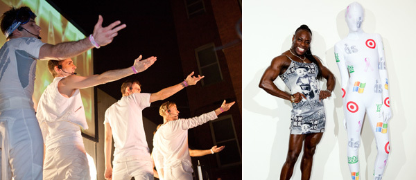 Left: #HDBOYZ. Right: The scene at MoMA PS1. (Photos: Jacqueline Iannacone/elkstudios.com)