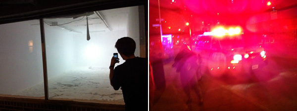 Left: Terence Koh performs. Right: The NYPD. (Photos: David Velasco)