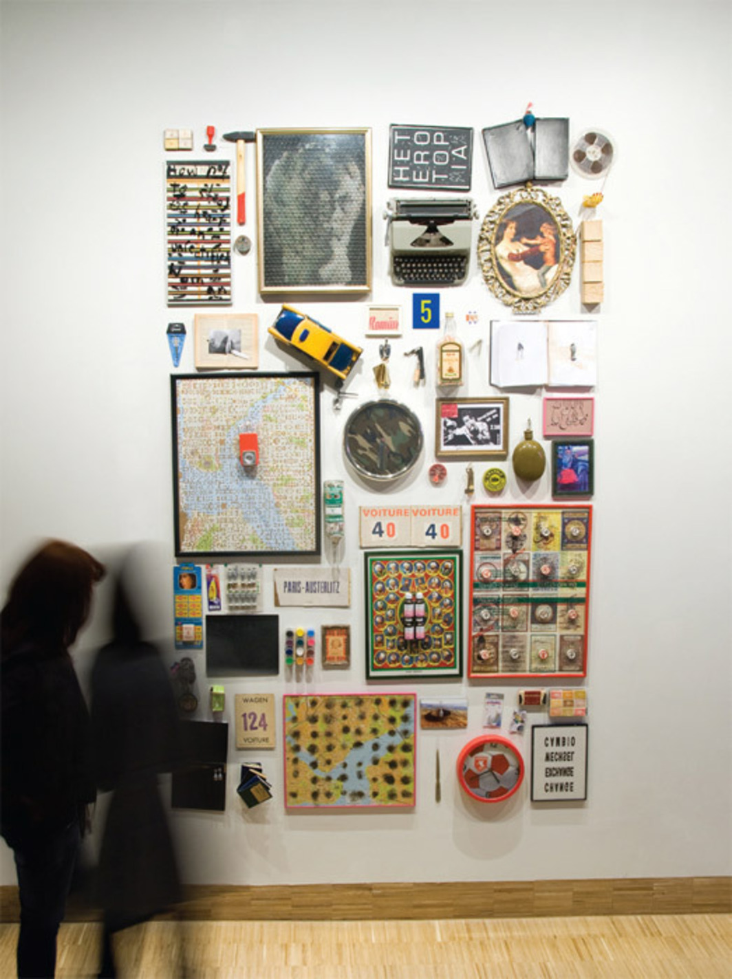 "Hüseyin Bahri Alptekin and Michael Morris, Heterotopia, 1992, mixed media, 98 1/2 x 65""."