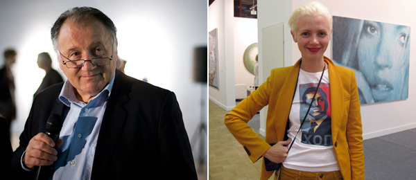 Left: Moscow Biennale curator Peter Weibel. (Photo: Ilya Murashkin) Right: ArtMoscow curator Christina Steinbrecher. (Photo: Kate Sutton)