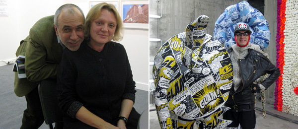 Left: NCCA Moscow director Mikhail Mindlin and XL's Elena Selina at ArtMoscow. Right: Andrey Bartenev. (Photos: Kate Sutton)