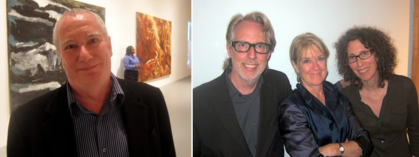 Left: Artist Mike Kelley. Right: Artists James Welling and Suzanne Lacy with filmmaker Jane Weinstock.