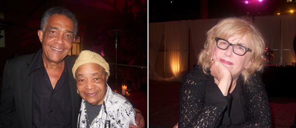 Left: Artists Fred Eversley and Samella Lewis. Right: Artist Judith Barry.