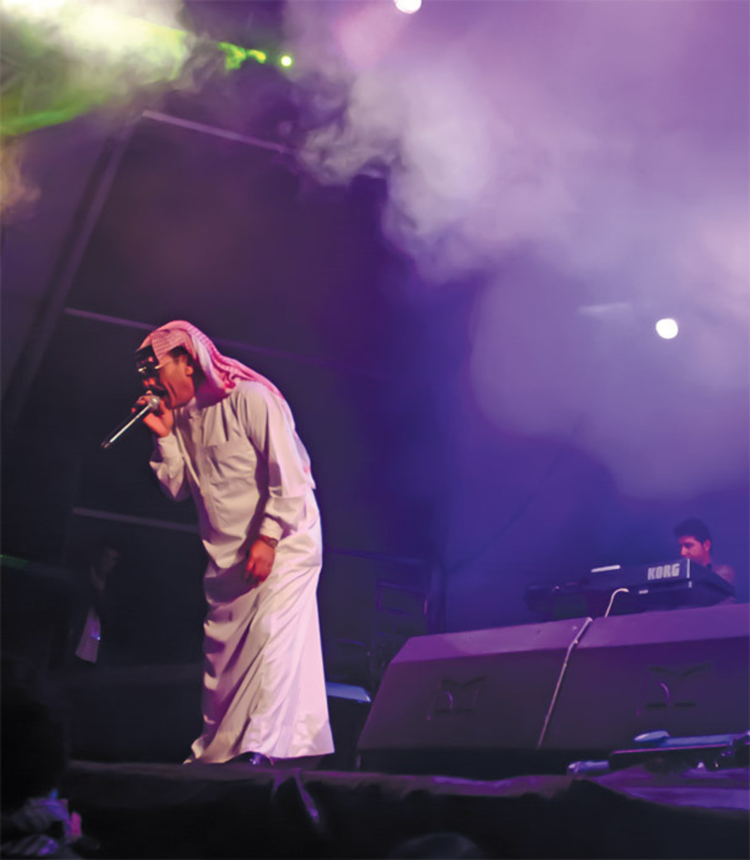 Omar Souleyman Group performing at the Paredes de Coura Festival, Praia do Tabuão, Portugal, August 17, 2011. Photo: Filipa Oliveira/Palco Principle.