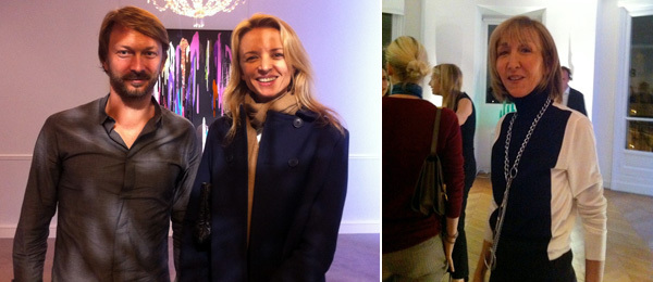 Left: Artist Anselm Reyle and Delphine Arnault. (Photo: Michael Huard) Right: Collector Patricia Marshall. (Photo: Nicolas Trembley)