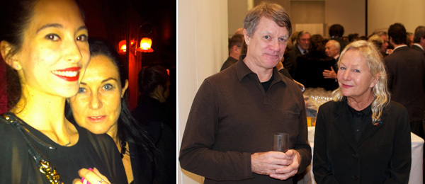 Left: Dancer Hannah O'Neill and FIAC director Jennifer Flay. (Photo: Nicolas Trembley) Right: Artist Allan McCollum and designer Agnès b. (Photo: Michael Huard)