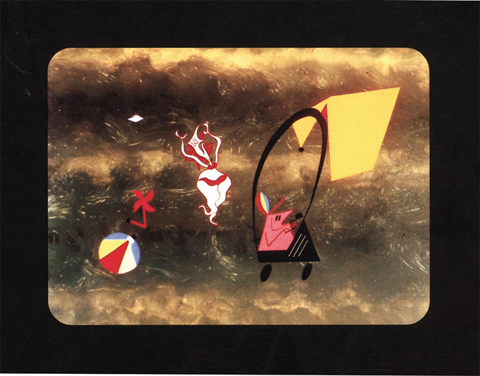 "Dušan Vukotić, Surogat (The Substitute), 1961, still from a color film in 35 mm, 9 minutes 36 seconds. From ""Surogat stvarnosti—pola stoljeća hrvatske animacije (Surrogate of Reality—Half a Century of Croatian Animation)."
