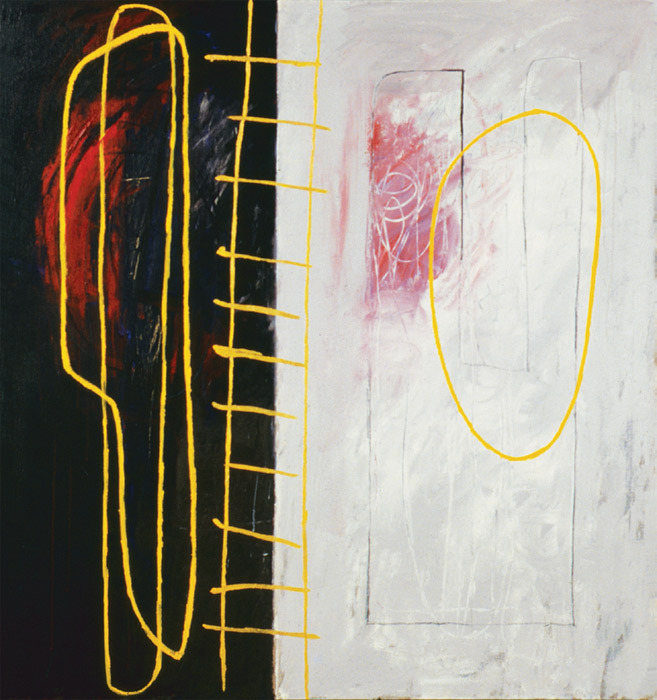 "Dale Chisman, The Ring, 1989, acrylic on linen, 72 x 72""."