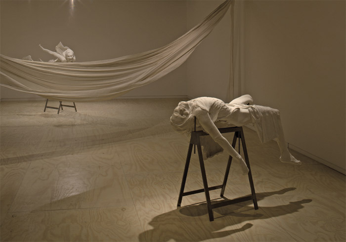 Christine Borland, Cast From Nature, 2010–11, plaster, steel, plastered cloth, dimensions variable.